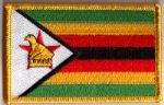 Zimbabwe Embroidered Flag Patch, style 08.